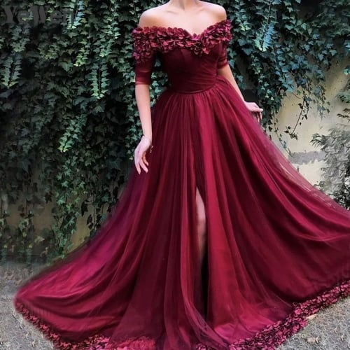 Red And White Ball Gown Wedding Dress: 5 Romantic Red Wedding Dresses
