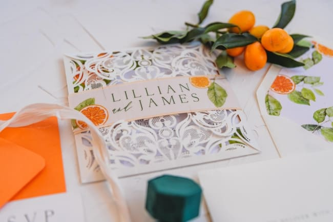 Florida Citrus Inspired Styled Wedding feature