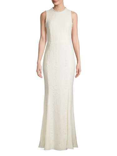 mae lace column gown from Saks Fifth Avenue Wedding Shop