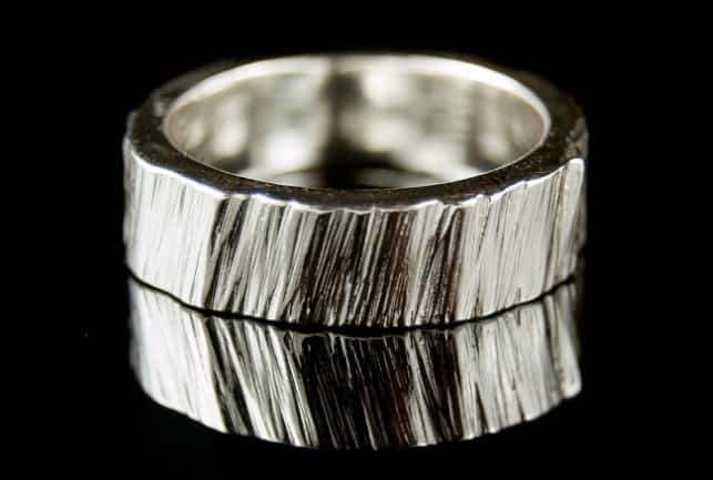 Saw Cut Textured Ring