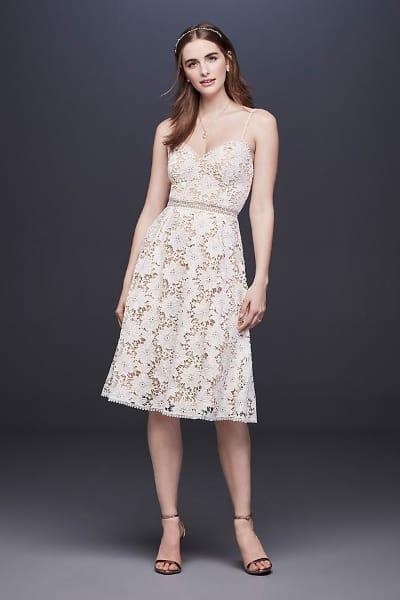 short lace wedding dress