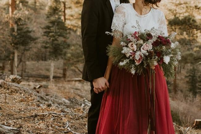 red wedding dress Etsy