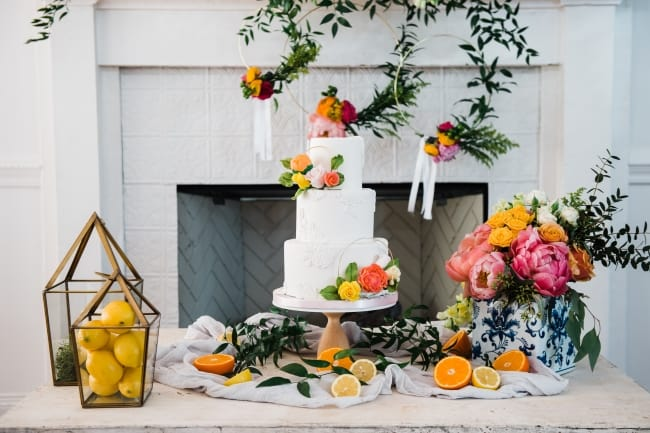Colorful Citrus Styled Wedding Shoot feature