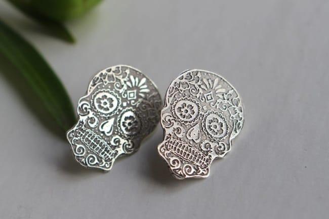 Day of the Dead - Skull Stud Earrings