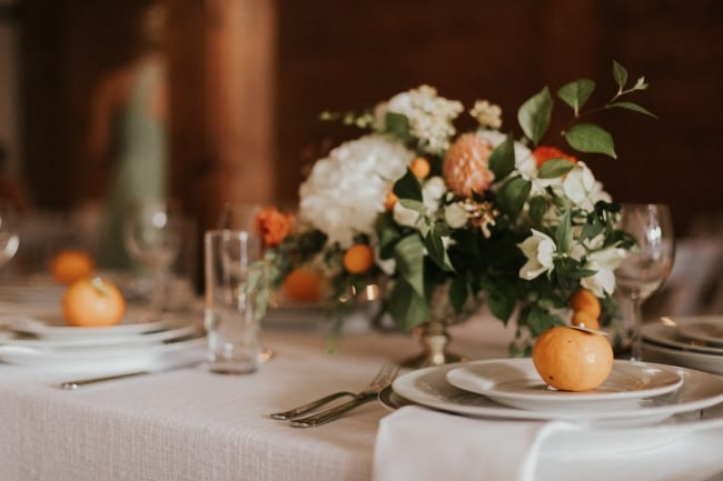 Wedding with Oranges Theme in Seattle feature