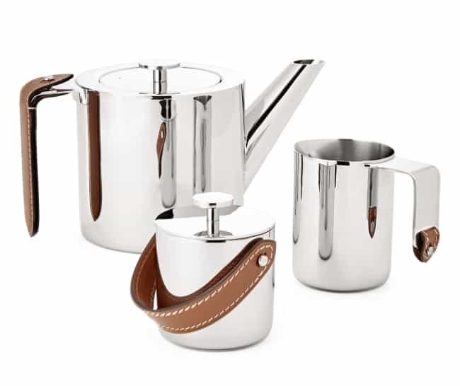 Three Piece Stainless Steel Tea Set