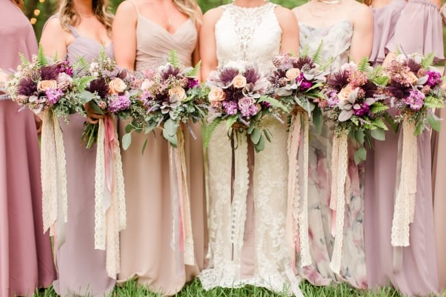 All Outdoor Boho Wedding During Summer