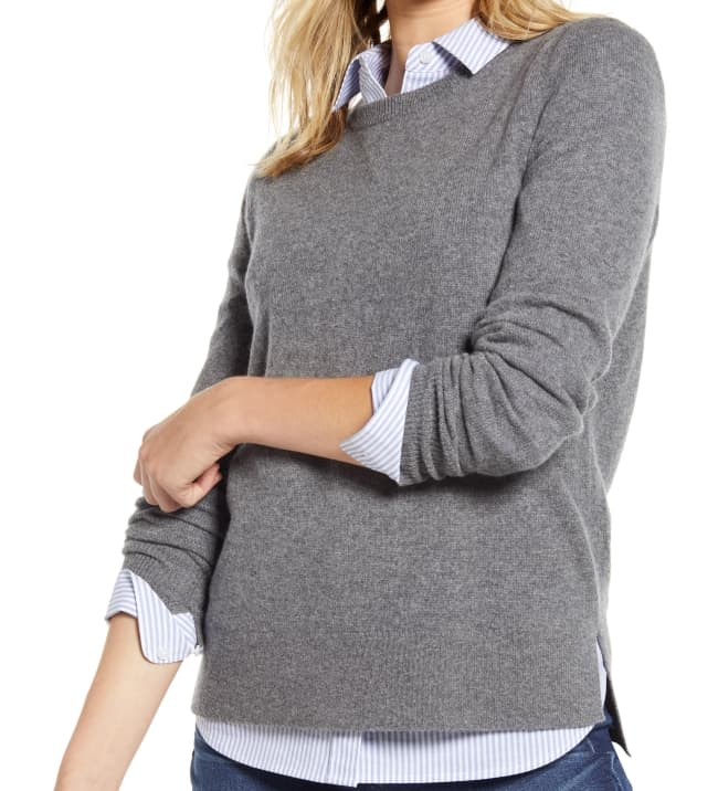 gray cashmere sweater