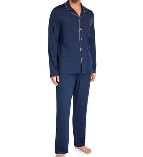 Jersey Pajamas with Mother of Pearl Buttons