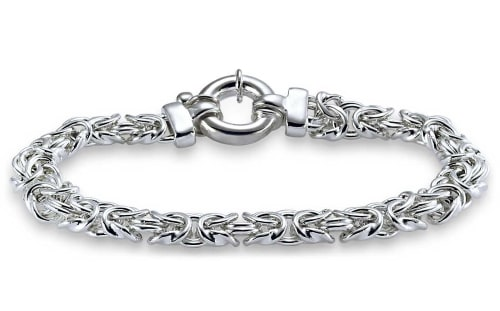 Silver Bracelet for 25th wedding anniversary gift