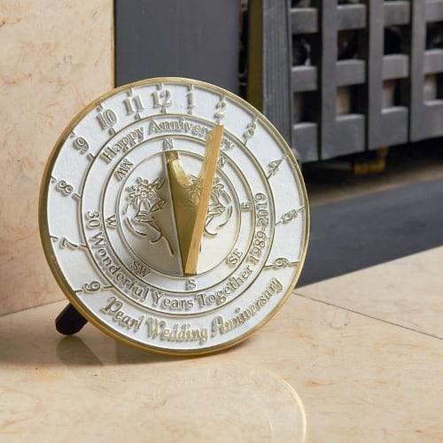 30th wedding anniversary pearl sundial gift