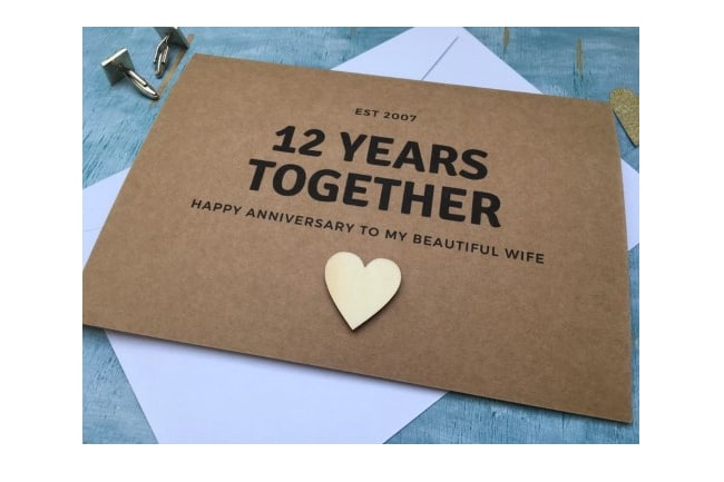 12th Anniversary linen image