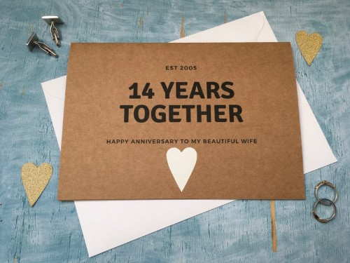 14th anniversary card
