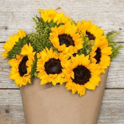 Bouquet of Sunflowers for 3rd anniversary gift