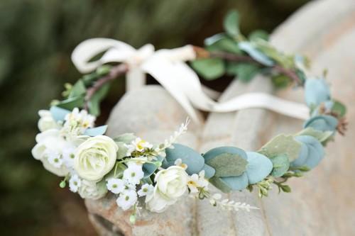 Bridal floral crown superstition