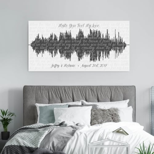 sound wave canvas art