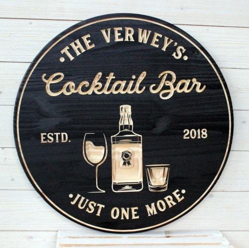 Cocktail Bar Signs for groomsmen gift