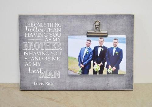 Custom Photo Frame Gift For Best Man