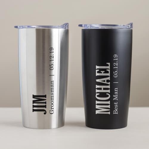Groomsmen Personalized Tumbler gift idea