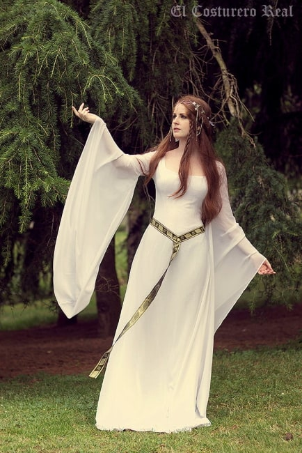 Galadriel Elvish Style Medieval Gown