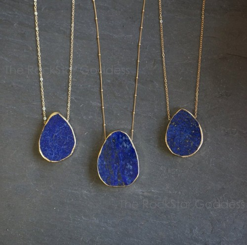 Lapis Lazuli jewlery necklace for 9th anniversary gift