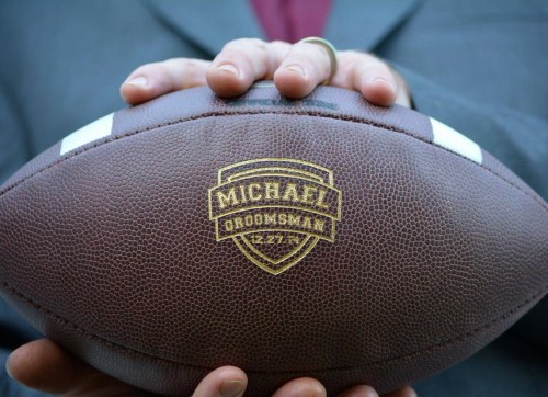Personalized Groomsmen Football thank you gift