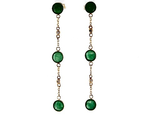 Jade Drop Earrings for 12th anniversary gift