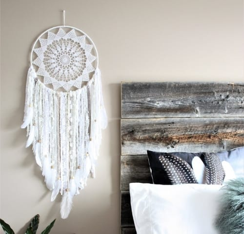 Dream catcher with lace for anniversary gift