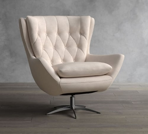 Linen armchair for 12th anniversary gift idea