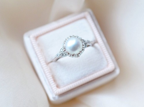 Pearl Engagement ring superstition