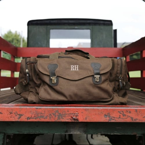 Personalized Canvas Weekend Travel Bag