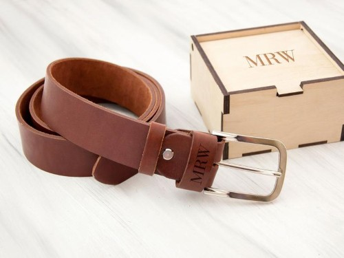 Personalized Leather Belt for Groomsmen gift