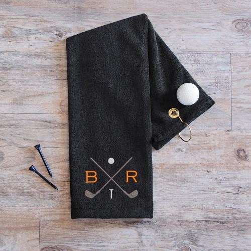 Monogrammed Golf Towel for groomsmen gift