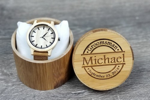 Personalized Wooden Watch and Case
