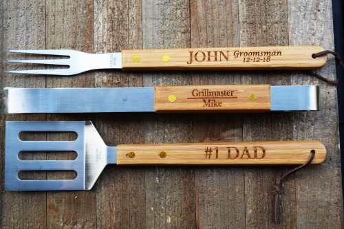 Personalized grilling tools for groomsmen gifts