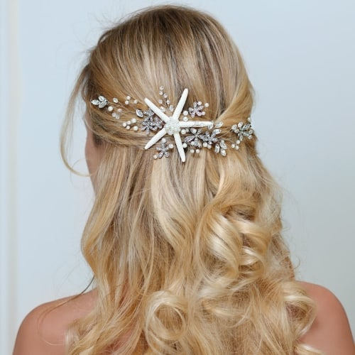 Starfish Bridal Hair Vine