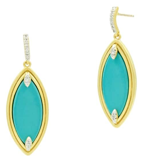 Turquoise Drop Earrings for 11th anniversary gift for her