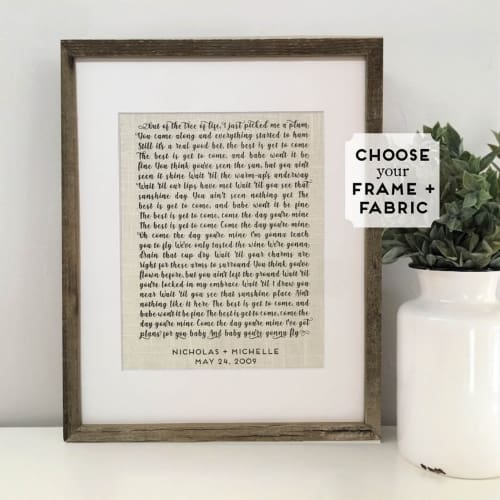 Framed Linen Wedding Song Lyrics