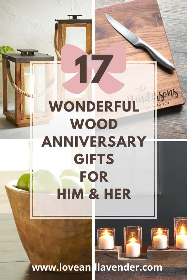 17 Wonderful Wood Anniversary Gifts For Him Her