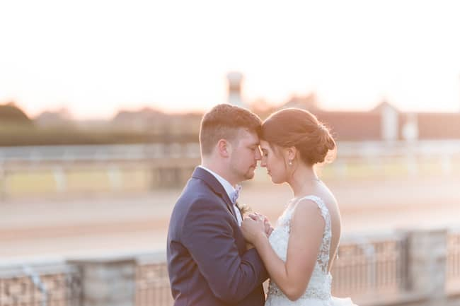Gorgeous Kentucky Wedding at Lexington Racetrack Featured