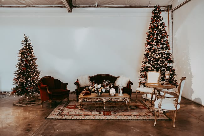 Vintage Styled Christmas Holiday Party Feature