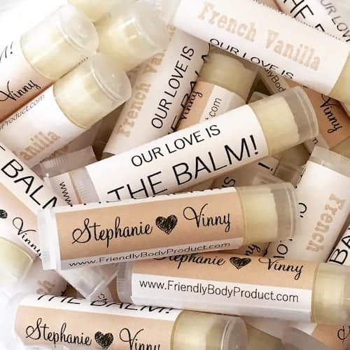 personalized honey lip balm sticks