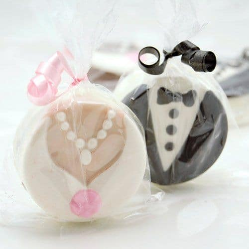 Bride & Groom Chocolate Covered Oreos
