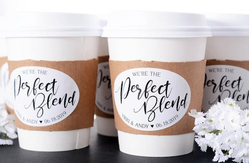 Coffee Cup Sets with Personalized Label
