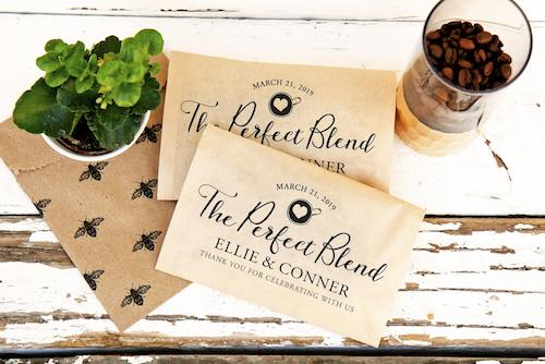 Personalized coffee bags for wedding favor DIY