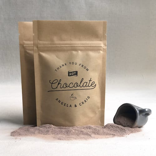 hot chocolate pouches