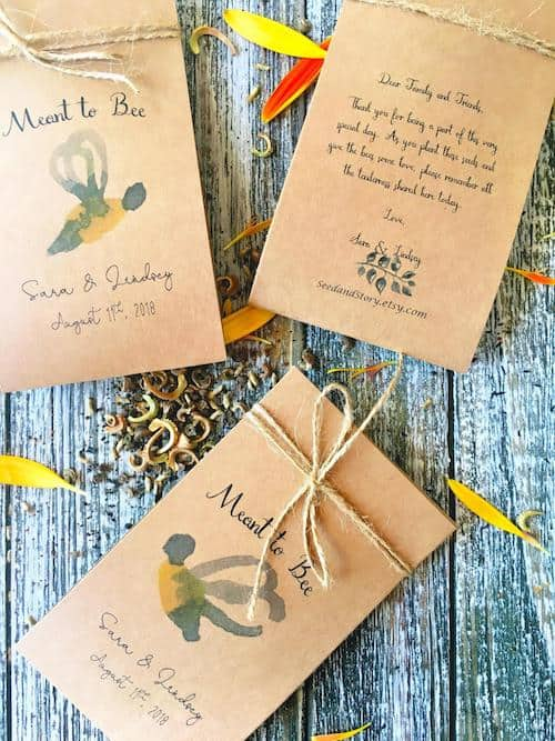 bee-friendly wildflower seed packets