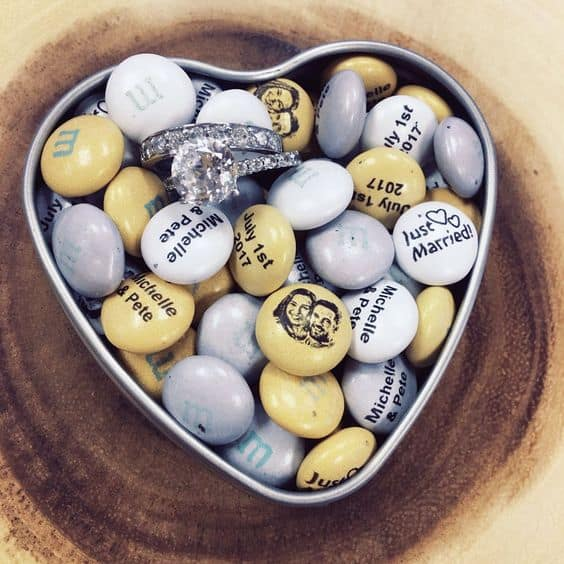 Personalized M&Ms with Wedding Couple and Words