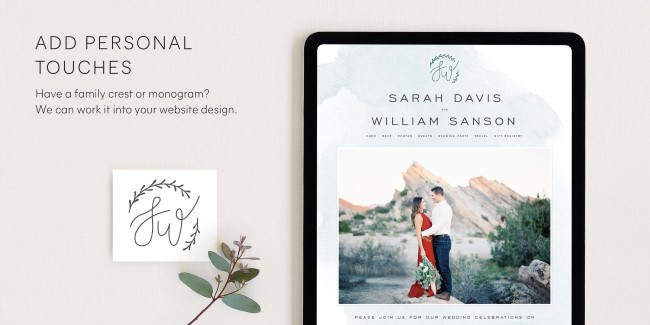 personal Monogram for your wedding brand