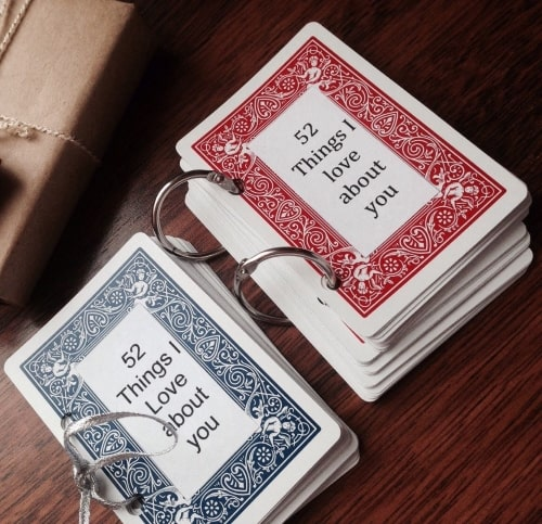Deck of Cards with 52 Things I Love About You